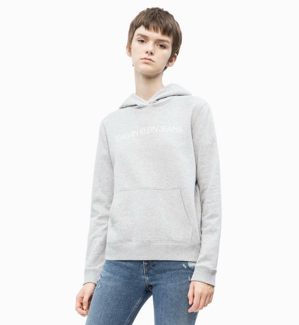 9208ab7c15 Calvin Klein dámska šedá mikina s kapucňou Hoodie - Mode.sk