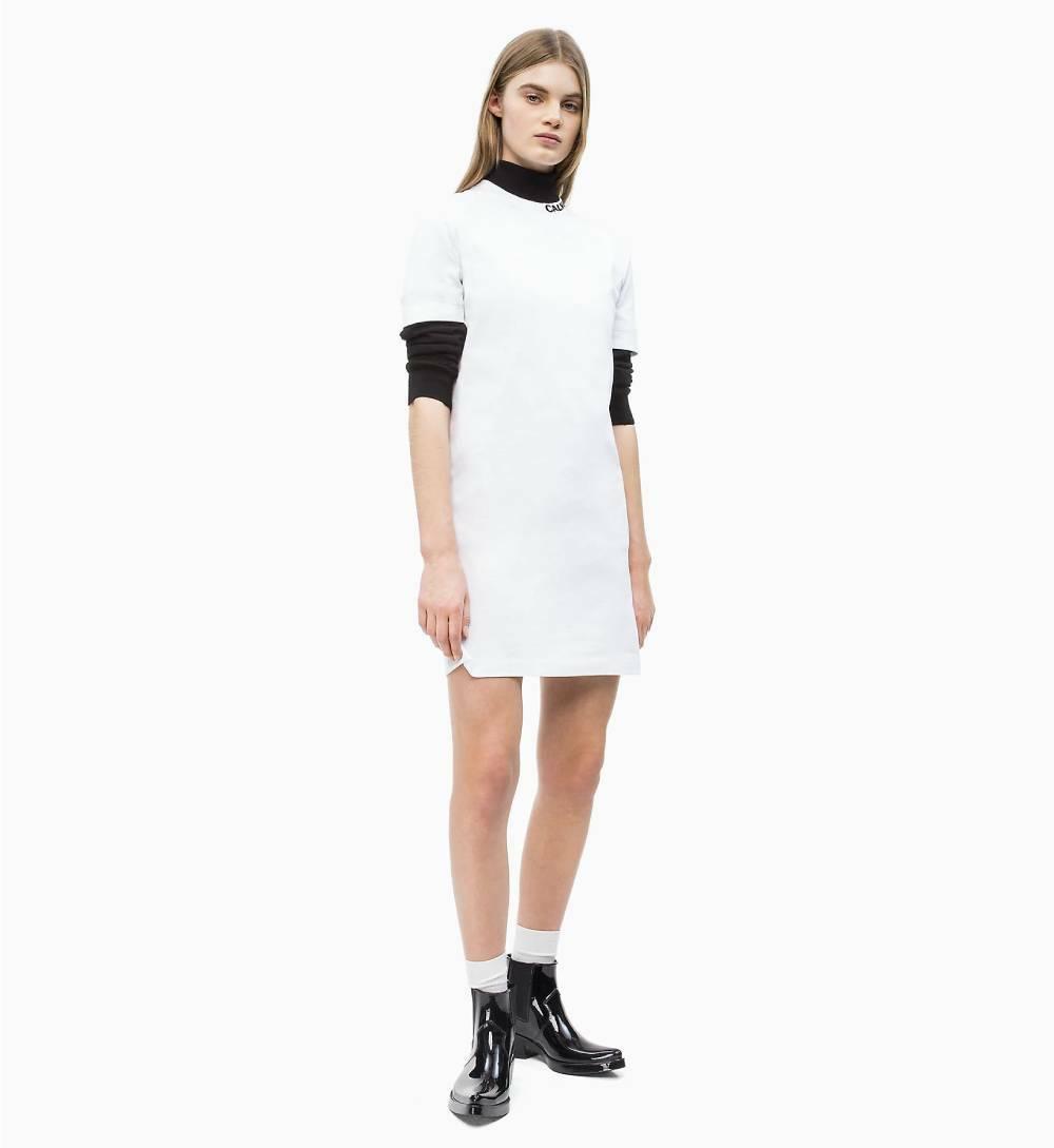 664a059a7b Calvin Klein dámske biele bavlnené šaty - Mode.sk