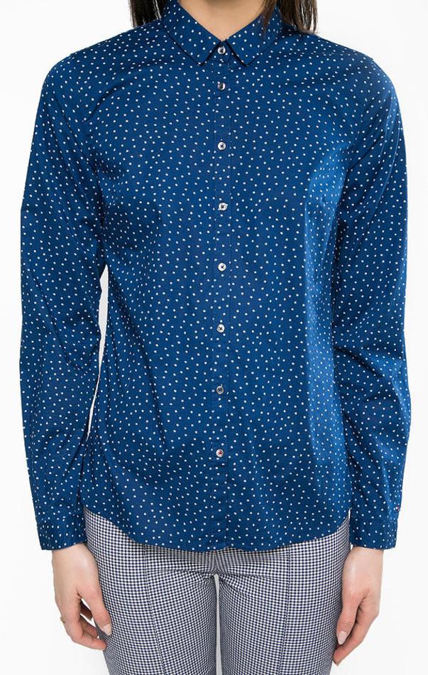 00075f0187 Tommy Hilfiger dámska tmavo modrá košeľa Delia s drobným vzorom ...