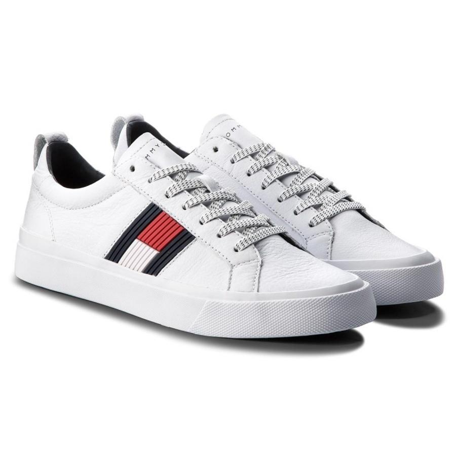 7996fba12b Tommy Hilfiger pánske biele tenisky Flag - Mode.sk