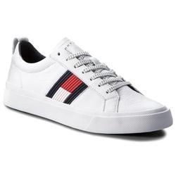 4434de4df Tommy Hilfiger pánske biele tenisky Flag